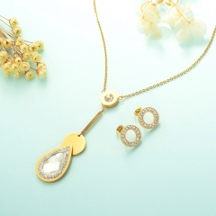 Conjunto de joyas de acero inoxidable 18k Gold Jewelry Wholesale XXXS-0236
